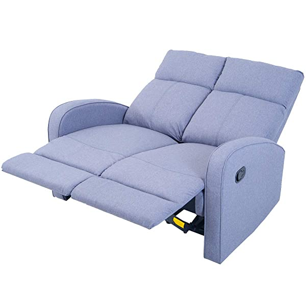 Harper&Bright Designs Sectional Sofa Set Living Room Reclining Couch (Loveseat)