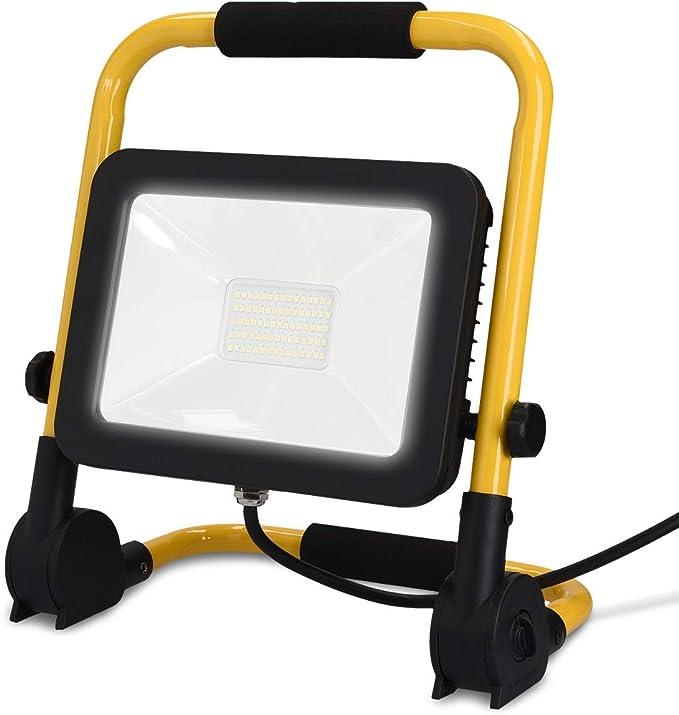 kwmobile Proyector LED para construcción de 30W 3000 lúmenes ...