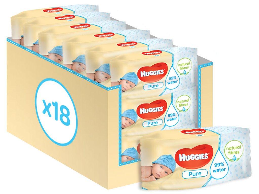 Huggies Pure Toallitas para Bebé Toallitas paquetes de unidades