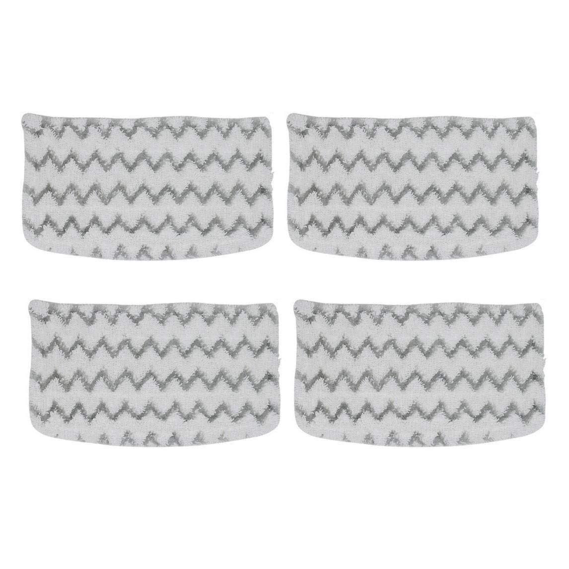 Steam Mop Pads Replacement for Shark S1000A Washable Microfiber Hard Floor Cleaning and Sanitizing Pads Compatiable with S1000 S1000C S1000WM S1001C Dirt Grip Pocket Pads 4 Pack
