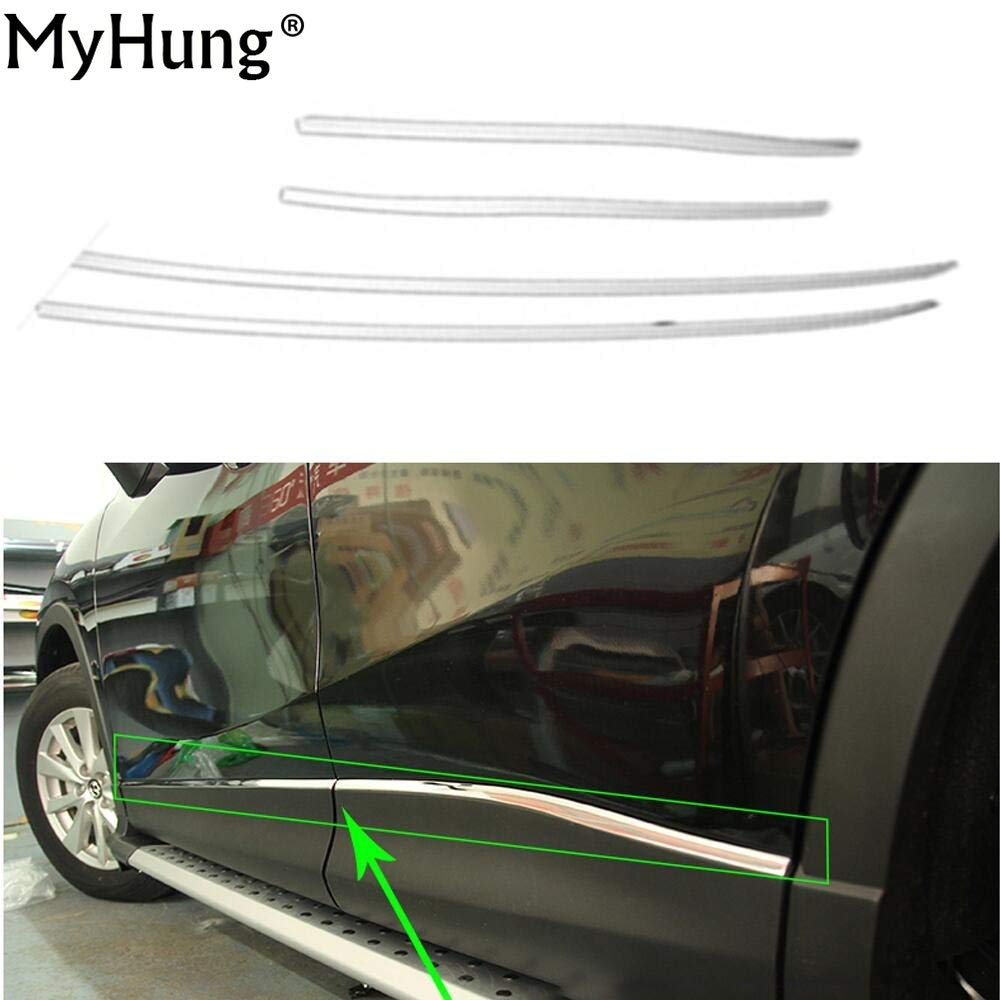 Amazon com exterior parts car body side door trim moulding lid trim for mazda cx5 cx 5 2013 2014 2015 2016 stainless steel 4pcs stickers auto accessories