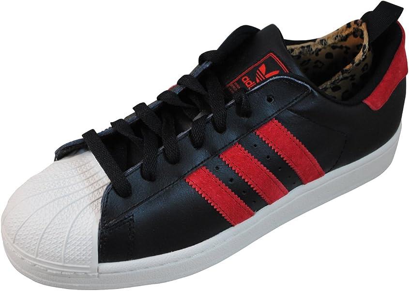 adidas superstar ii white black red