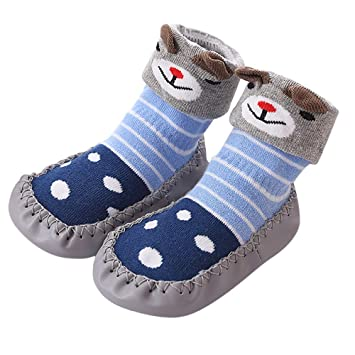 7c354daeb4147 Kids Anti-Slip Slipper Floor Socks Toddler Baby Non-Slip Socks Soft Bottom  Booties Shoes Gift...
