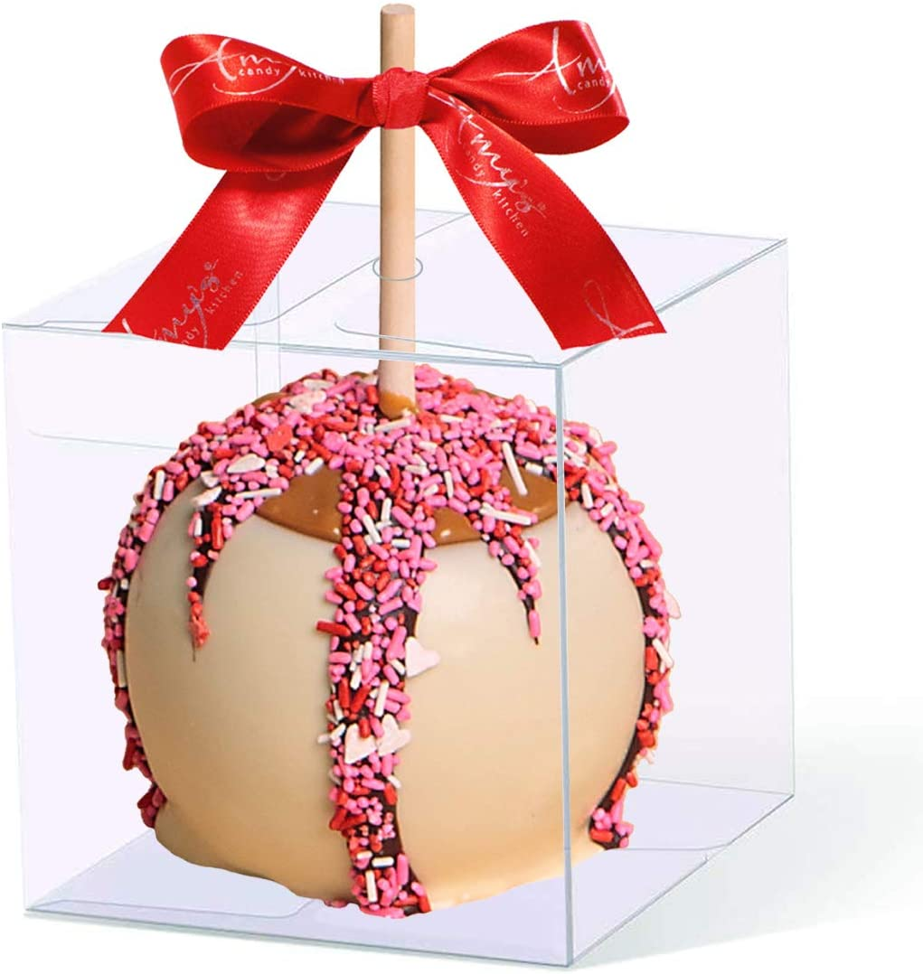 30 PCS Clear Candy Apple Box With Hole | 4