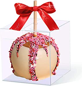 15 PCS Clear Candy Apple Box with Hole Top | 4