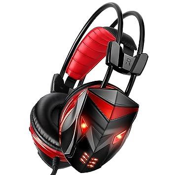 Posugera Casque Gaming Micro Casque Gamer Audio Stereo Basse Avec