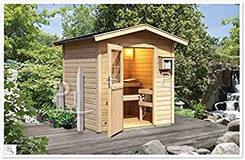 Finnische Sauna Garten Außen Aida mit Vorraum: Amazon.de: Küche ...
