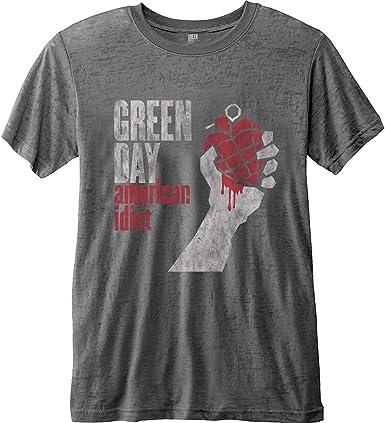 Rock Off Green Day American Idiot Burnout Oficial Camiseta para Hombre: Amazon.es: Ropa y accesorios