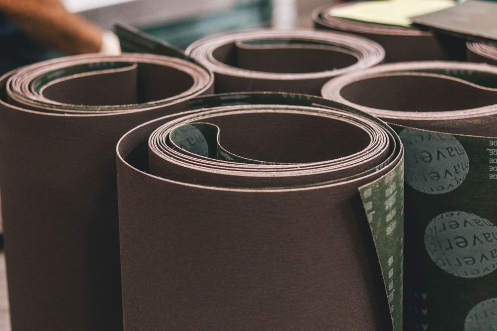 43'' X 75'' Sanding Belt Aluminum Oxide X Weight Cloth Sandpaper 2 Pack for Woodworking & Metalworking Made In the USA for Wood and Metal Sanding (60 Grit)