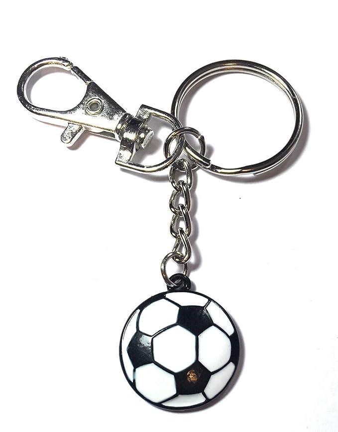 FizzyButton Gifts - Llavero esmaltado, diseño de balón de fútbol ...