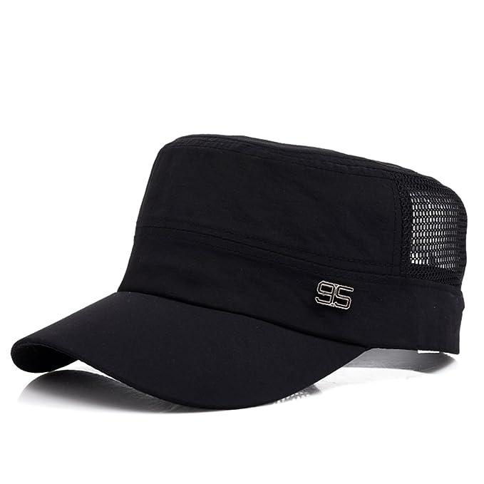 Piatte cappello M Cappelli outdoor estate Cap di Sun Mesh traspirante cappello  da sole Rapida asciugatura Cap La versione coreana di un berretto da ... a491a74bea21