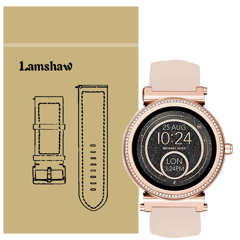Compatible for Michael Kors Sofie Band, Blueshaw Sport Silicone Replacement Strap for Michael Kors Access Sofie Smartwatch (Pink)
