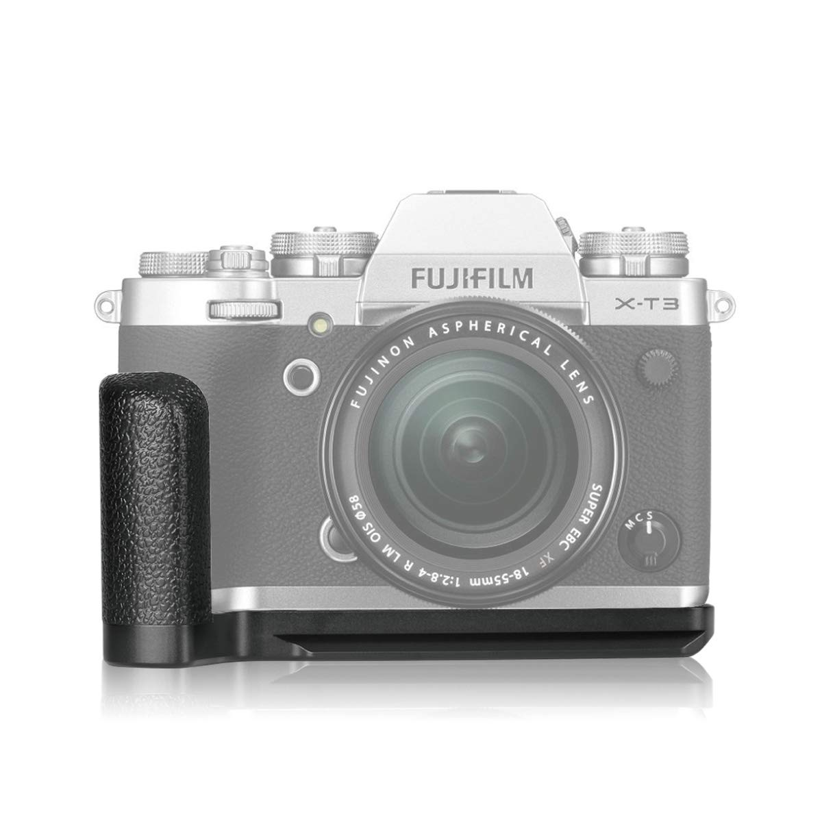 Meike XT3G Aluminum Alloy Hand Grip Quick Release Plate L Bracket MHG-XT3 Replacement for Fujifilm X-T3 by Meike