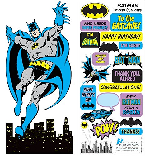 DC Comics Batman Quotable Notable - Die Cut Silhouette Greeting Card and Sticker Sheet