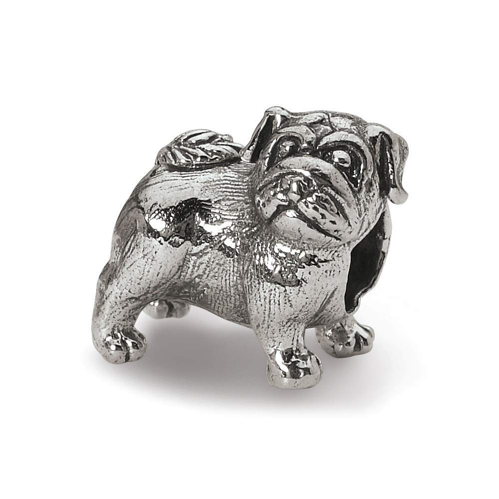 Roy Rose Jewelry Sterling Silver Reflection Beads Pug Bead