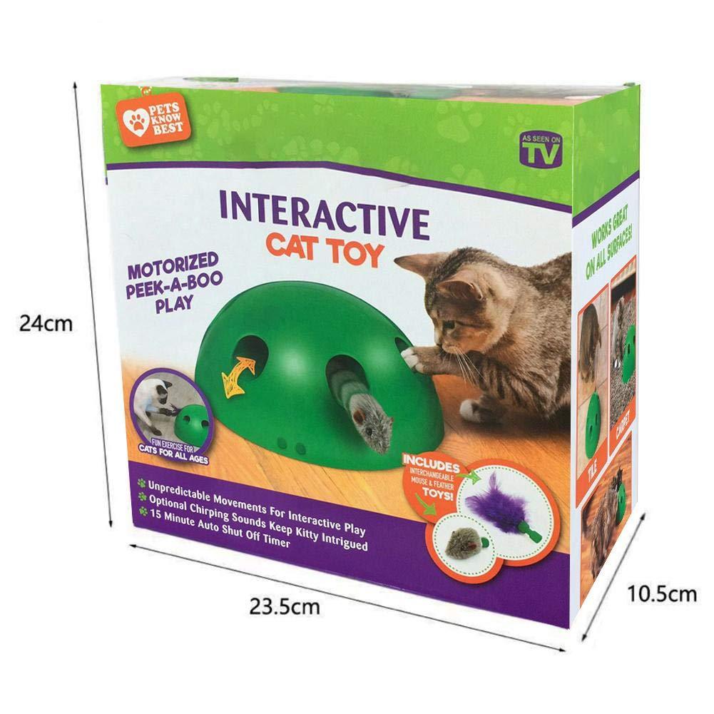 Juguete interactivo para gatos Juguete interactivo para gatos Juguete para gatos Divertido Hide and Seek Ejercicio para gatos Juguete Mascota Gato Gatito Entretenimiento Inteligencia Jugar Juguetes