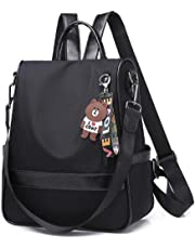 okasis Mochilas para Mujer, Mochila Antirrobo Mujer De Nylo, Portatil Impermeable Daypack Mini Mochilas Casual Bolsa De Viaje,Backpack Mujer Bolsa de Hombro con Asas (Negro)