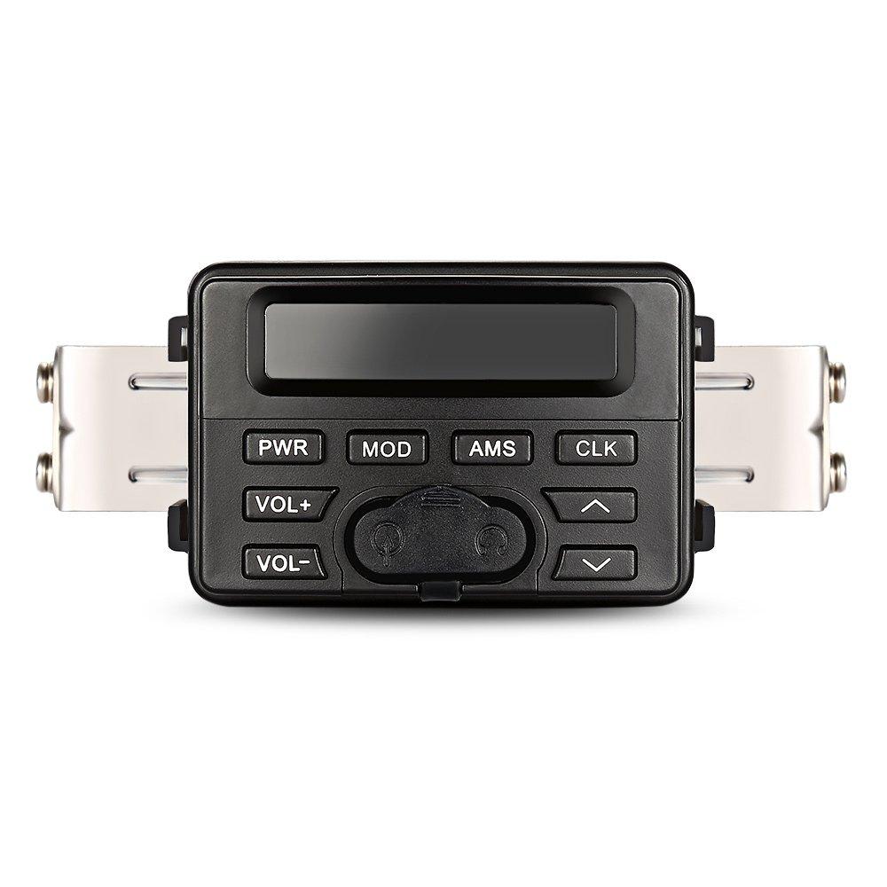 Waterproof Motorcycle Audio Player - BLACK