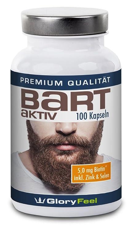 Barba Cápsulas Activas – recuperación + crecimiento de barba - 100 cápsulas para el cuidado de