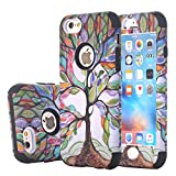 iPhone 6s Case, Harsel Beautiful Life Tree Design Dual Layer Hybrid Armor Soft