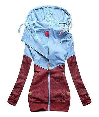 cheap for discount 3c07f 5f026 Sweatjacke Damen Kapuzenjacke Oversized Sweatshirt Hoodie Jacke Damen mit  Kapuze Hoodies Sweatshirtjacke Sweatshirts Sweatjacken Frauen ...