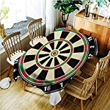TT.HOME Custom Tablecloth,Sports Dart Board Numbers Sports Accuracy Precision Target Leisure Time Graphic,Table Cover for Kitchen Dinning Tabletop Decoratio,W54x72L,Vermilion Green Black