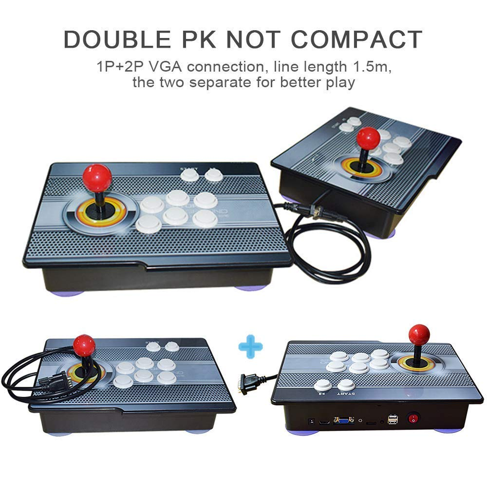 PinPle Arcade Game Console 1080P 3D & 2D Games 2020 in 1 Pandora's Box Kit Classic Arcade Game Machine 2 Players Arcade Machine Arcade Joystick Support Expand 6000+ Games for King of Fighters by PinPle (Image #4)
