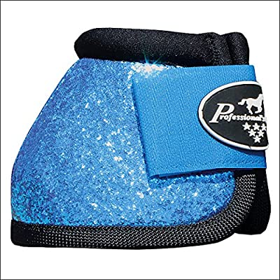 MEDIUM PROFESSIONAL CHOICE SPORTS HORSE MEDICINE BOOTS BELL VENTECH ELITE GLITTER BLUE PACK OF 6 by Professional Choice