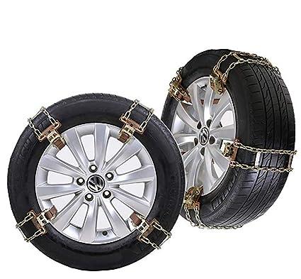 QINUO Cadenas de Nieve para neumáticos Antideslizantes para Cadenas de Nieve, Cadenas de neumáticos de