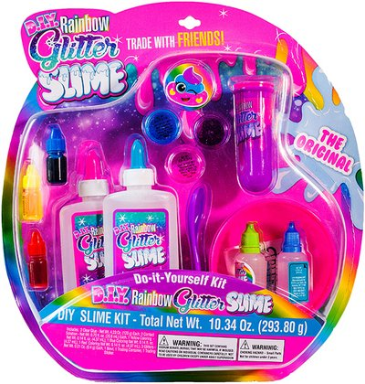 Amazon do it yourself rainbow glitter slime kit toys games do it yourself rainbow glitter slime kit solutioingenieria Images