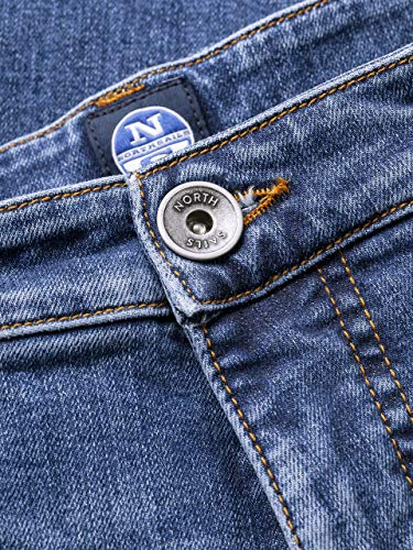 Trousers And Combo North In 1 With Men's Zip Sails Belt Loops Fly 38 5 pocket BI48B