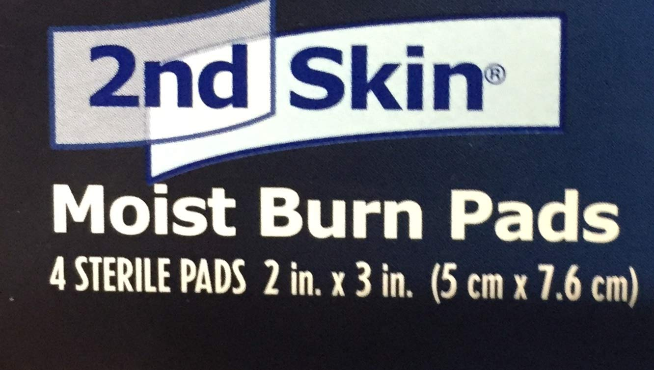 Milliken Medical Spenco 2nd Skin Moist Burn 2'' x 3'' Pads Won't Stick to The Wound 4 Boxes - MS46320