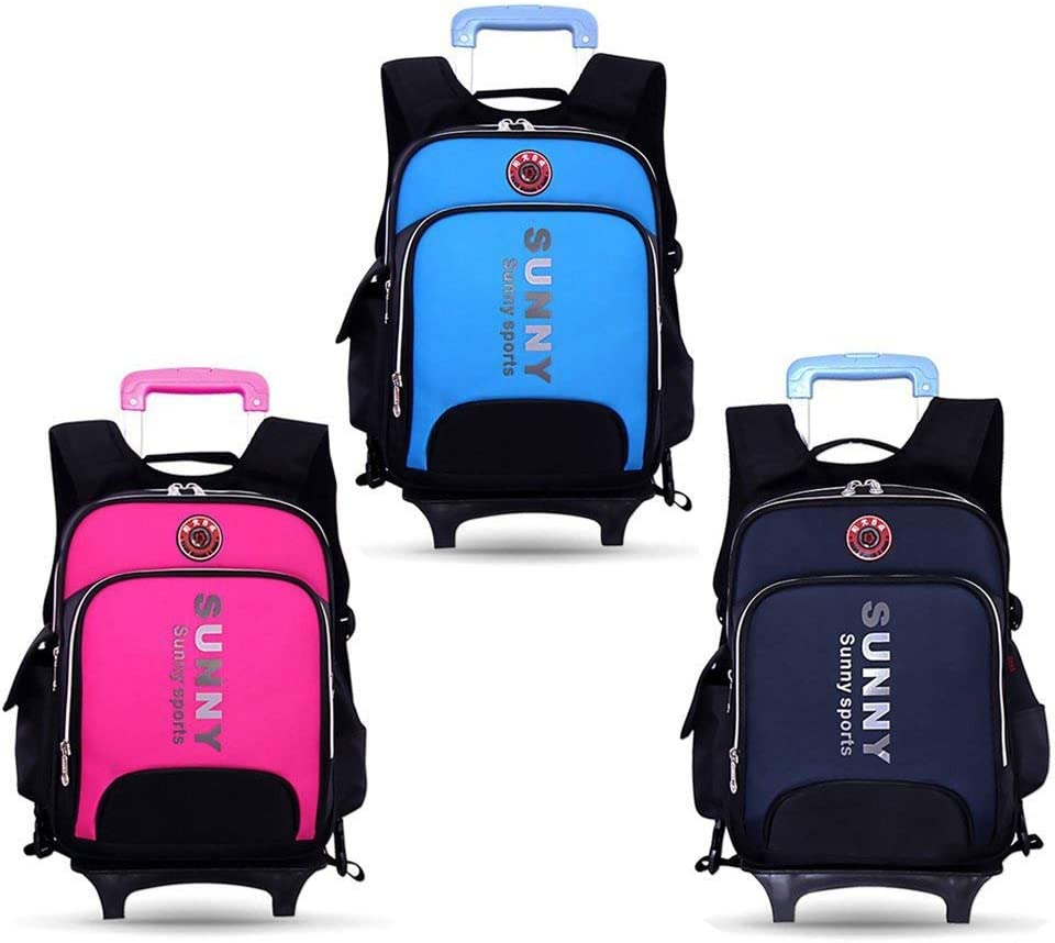 Color : A CcBeatY Elementary School Student Rolling Backpack Students Trolley Bookbag Rucksack with Wheels Carry-on Bags for Girls Boys