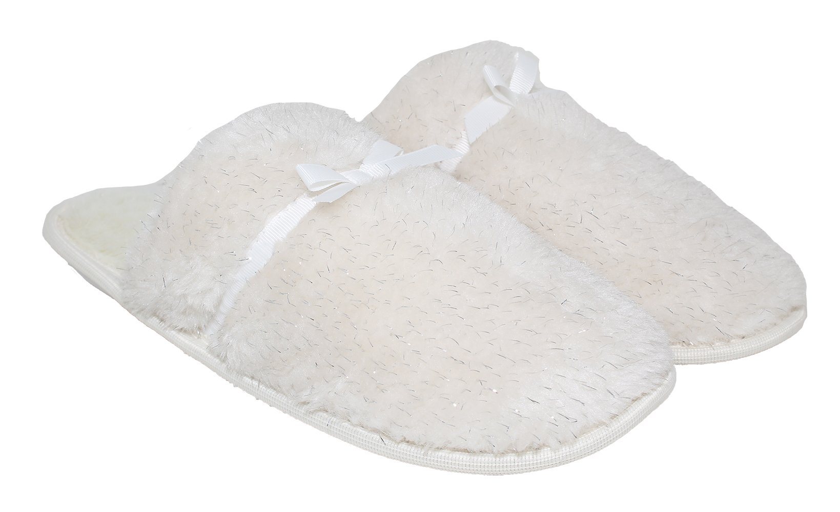 Blue Star Women's Comfort Memory Foam Sherpa House Slippers w Slip-Resistant Rubber Bottom Sole |Indoor/Outdoor |Anti-Skid