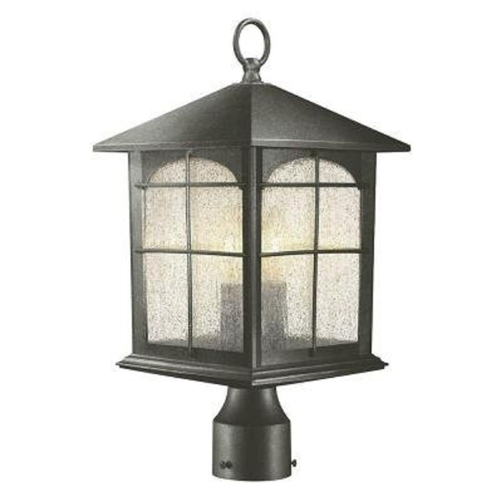Home Decorators Collection Brimfield 3-Light Outdoor Aged Iron Post Light