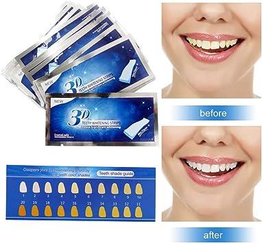 Blanqueador Dental,Tiras de Blanqueamiento,Tooth whitening,Teeth Whitening Strips,Kit de Blanqueamiento de Dientes - 14 Kits 28 Tiras - Sabor Menta: Amazon.es: Salud y cuidado personal