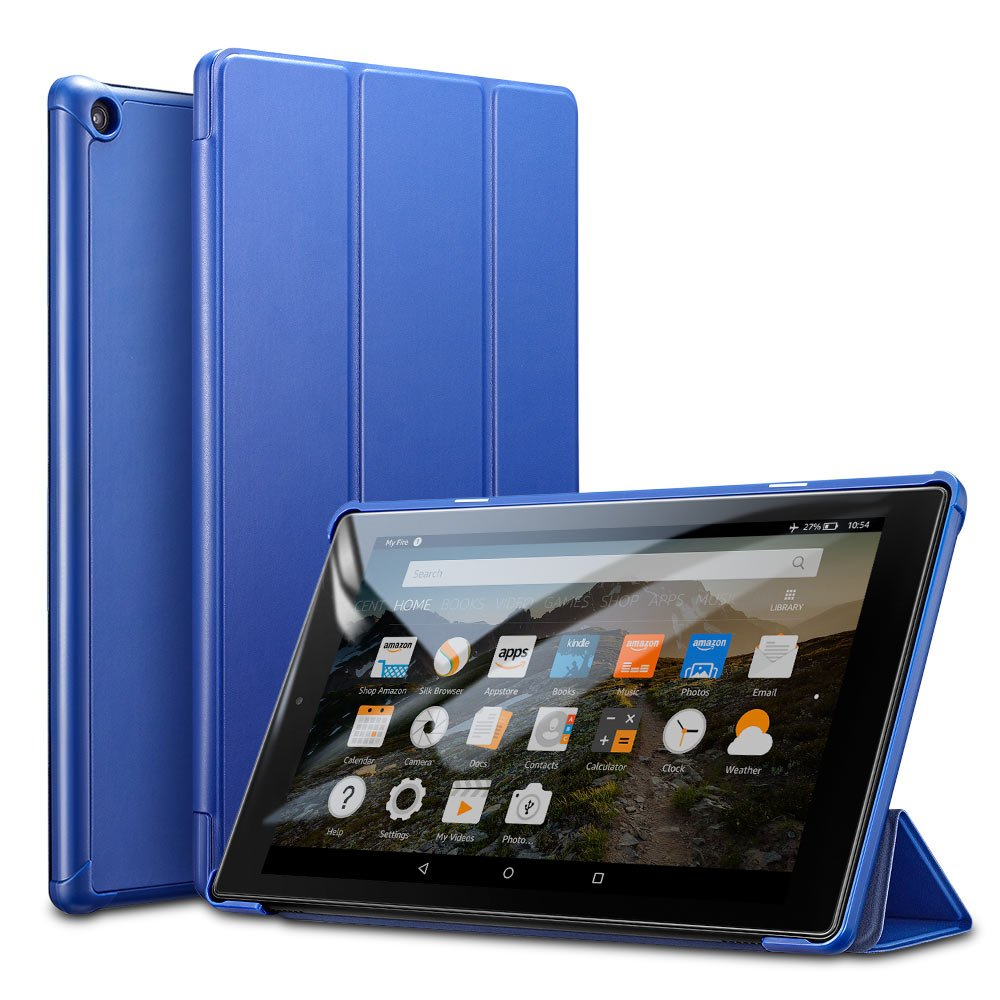 huge selection of b3b47 40bab ESR Case for Fire HD 10, Light Weight Smart Trifold Stand Case with Auto  Sleep/Wake, Microfiber Lining, Hard Back Cover Compatible for The Fire HD  ...