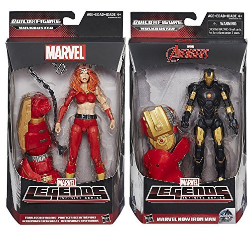 Marvel Legends Infinite Series: Avengers Marvel Now Iron Man + Fearless Defenders Thundra Action Figures
