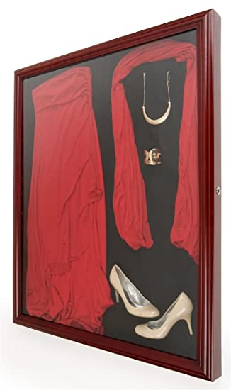 Large Shadow Box Frame with Locking Swingopen Door 37u0026quot; x 47.25u0026quot; Hanging & Large Shadow Box Frame with Locking Swingopen Door 37