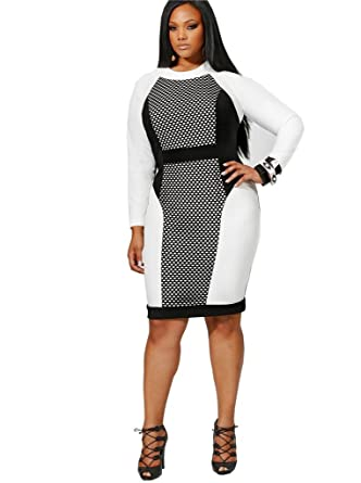 Amazon Welvt Womens Long Sleeve Casual Plus Size Patchwork