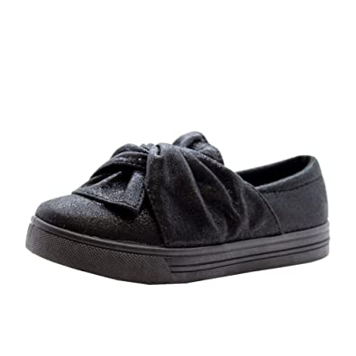 8c403930264b Girls Kids Children Knot Bow Skater Pumps Sneakers Plimsolls Trainers   Amazon.co.uk  Shoes   Bags