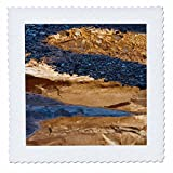 3dRose Danita Delimont - Abstracts - USA, Utah. Abstract reflections in stream with pebble designs. - 20x20 inch quilt square (qs_260311_8)