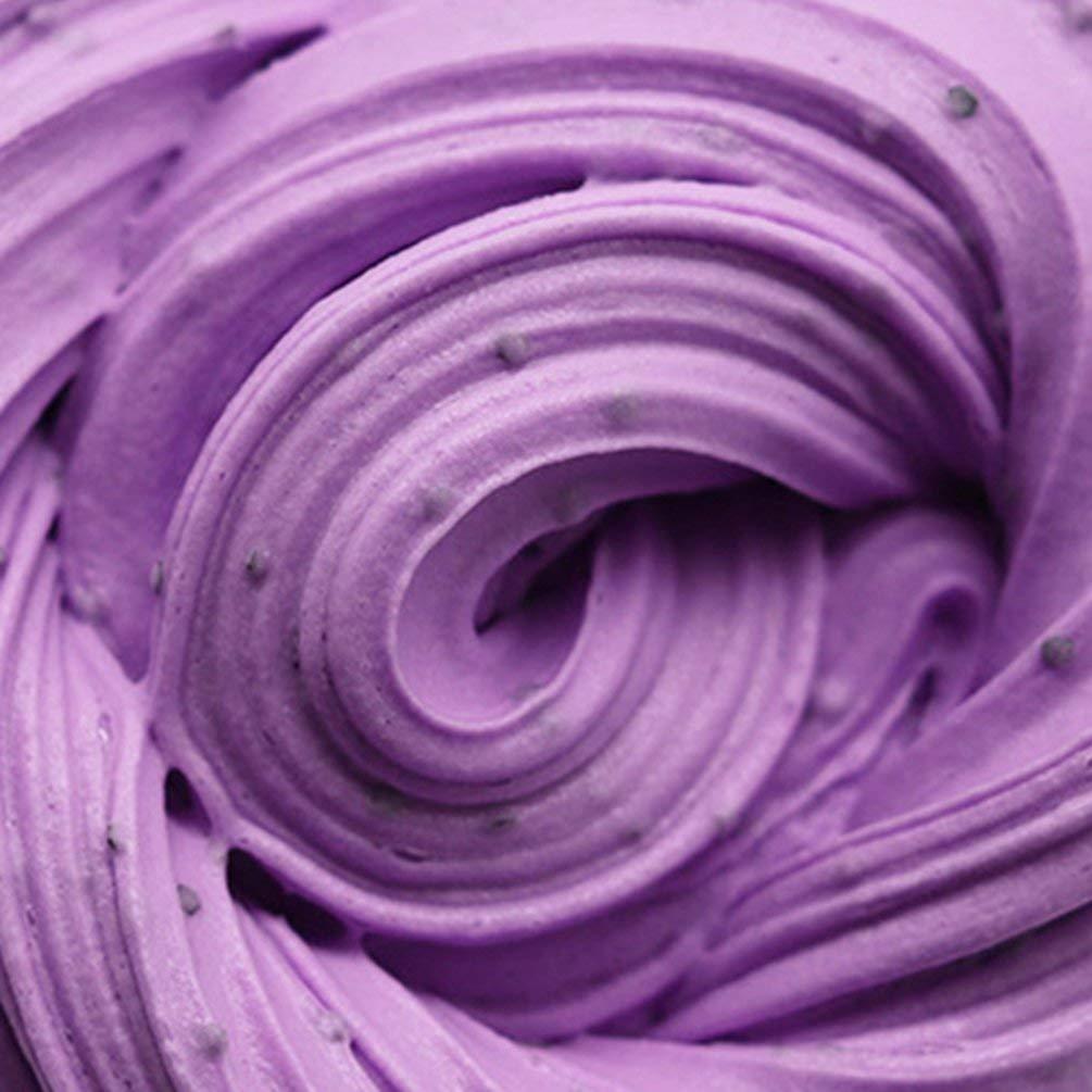 TAOHOU Fluffy Floam Slime Doble Color Crat Mud Toy No Borax Cotton Slime Clay Light Purple