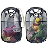 MDcharm 2 Pop up Laundry hampers - Collapsible Laundry Basket, Dirty Clothes Hamper with Handles, Plush Toy Organizer