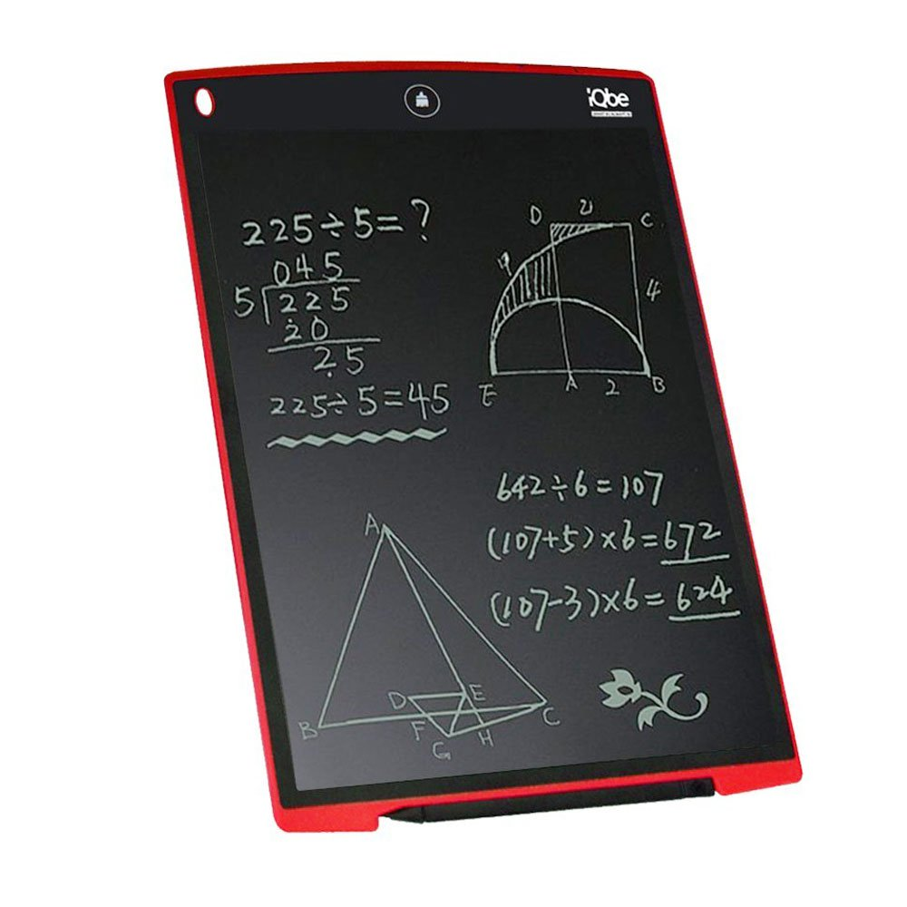 12Inch LCD Writing Board, iQbe Kids and Business Durable Writing Tablet eWriter, Convenient to Carry(Red) iQbeUK