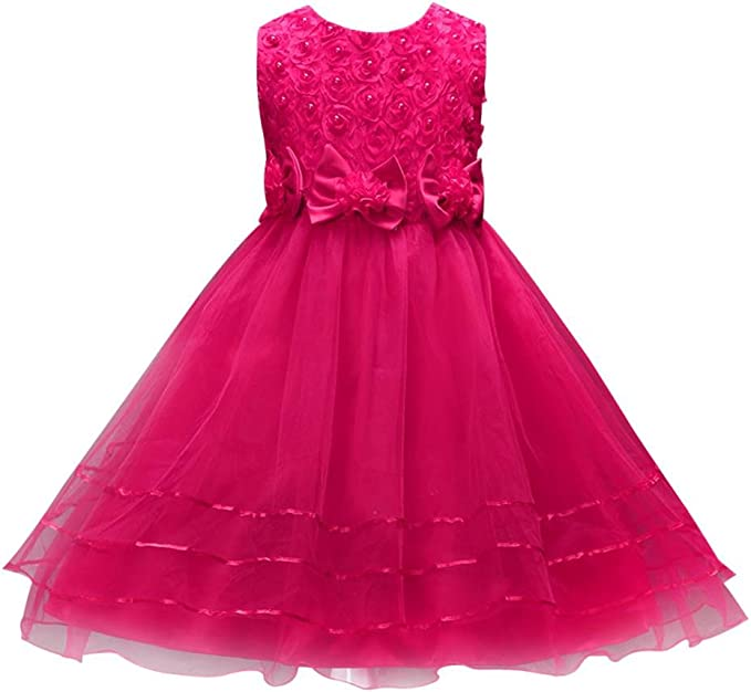 Kinder Mädchen Tutu Partykleid Prinzessin Kostüm Festkleid Hochzeit Abendkleider