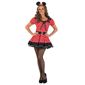 Fun Shack Roja Missy Mouse Disfraz para Mujeres - S: Funshack ...