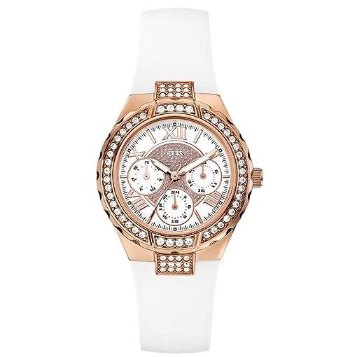 Guess damen armbanduhr chronograph quarz edelstahl w0403l1