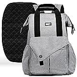 Diaper Bag Backpack with Stroller Straps - Baby Changing Mat & 13 Pockets - Insulated Milk Bottle Pockets - Water Resistant - Large Unisex Design for Men & Women