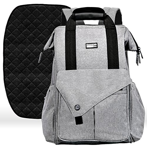 Diaper Bag Backpack with Stroller Straps, Baby Changing Mat & Multi Pockets - Insulated Milk Bottle Pockets, Water Resistant, Large Unisex Design for Men & Women (Small)